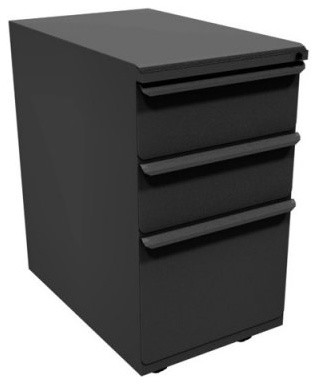 Zapf Mobile Pedestal with 1 File Drawer and 2 Storage Drawers - 23 in. - Modern - Filing ...