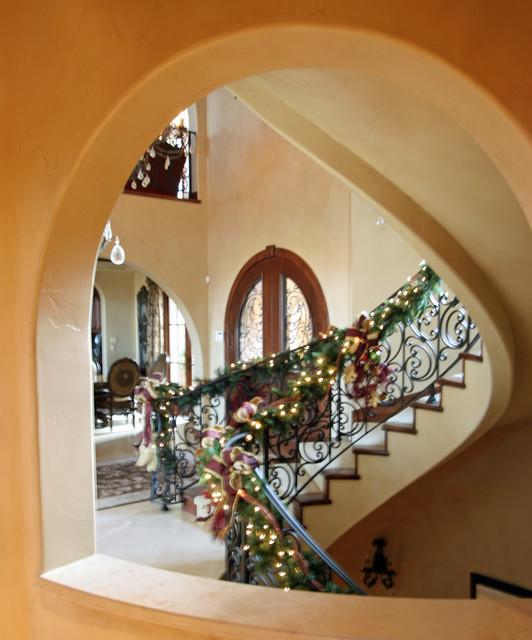 Colorado Tuscan Home mediterranean-staircase