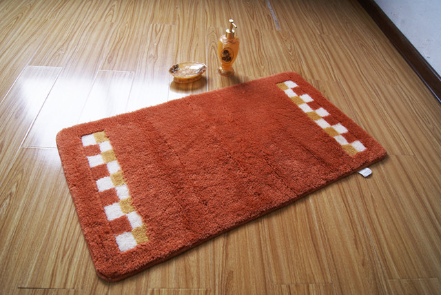 Elegant Orange Bath Rug and Mat   contemporary   bath mats   other. Bath Rugs And Mats   Interior Design Styles
