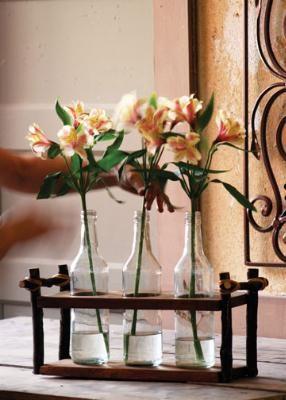 three bottle sanctuary vases