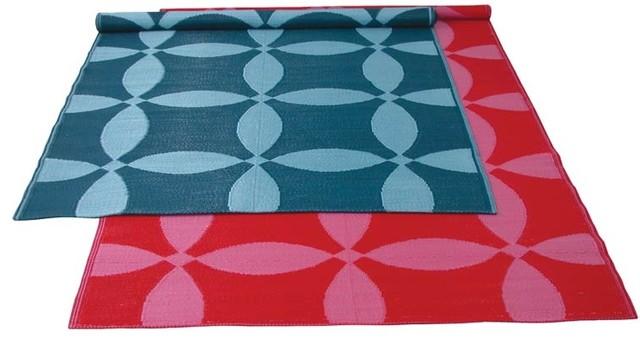 Koko - Optics Plastic Floormat 5 x 9 modern-rugs