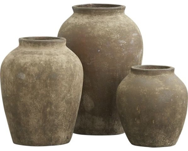 Olive Jars traditional outdoor planters