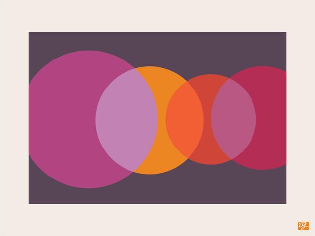 "Foureyes Horizontal Print, Disco, 11"" x 14"" contemporary-prints-and-posters"