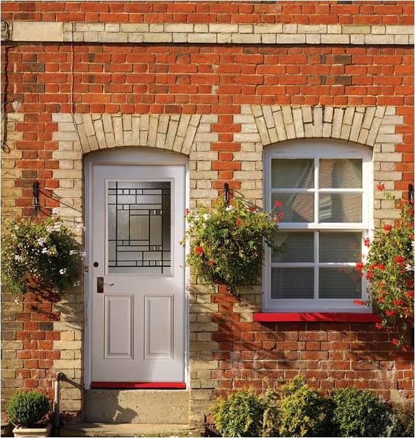 Smooth Skin Fiberglass Door Series modern-front-doors
