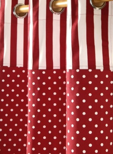 Red polka dots readymade curtains modern curtains other metro