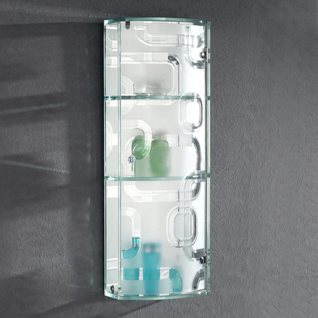 ... Tempered Glass Wall Cabinet with Mirror contemporary-medicine-cabinets