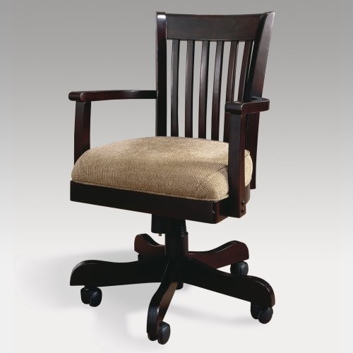 bankers desk chair espresso traditional office chairs by