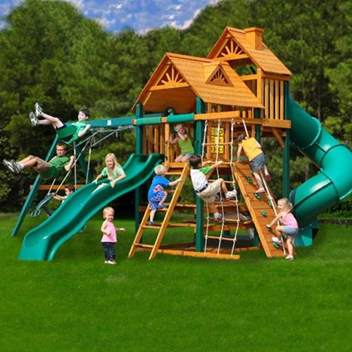 gorilla playsets big skye i wood swing set contemporary outdoor