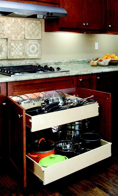 Pull Out Shelves for Your Pots and Pans - Contemporary - Kitchen Drawer Organizers - other metro ...