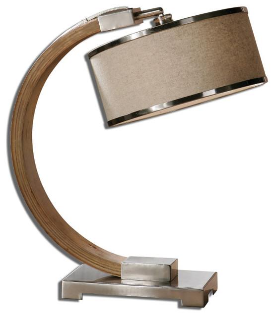 Wood Table Lamps : Metauro Wood Desk Lamp - Mediterranean - Desk Lamps - by Fratantoni ...
