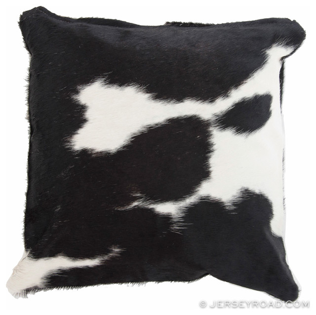 Black And White Cowhide Pillow Contemporary Decorative