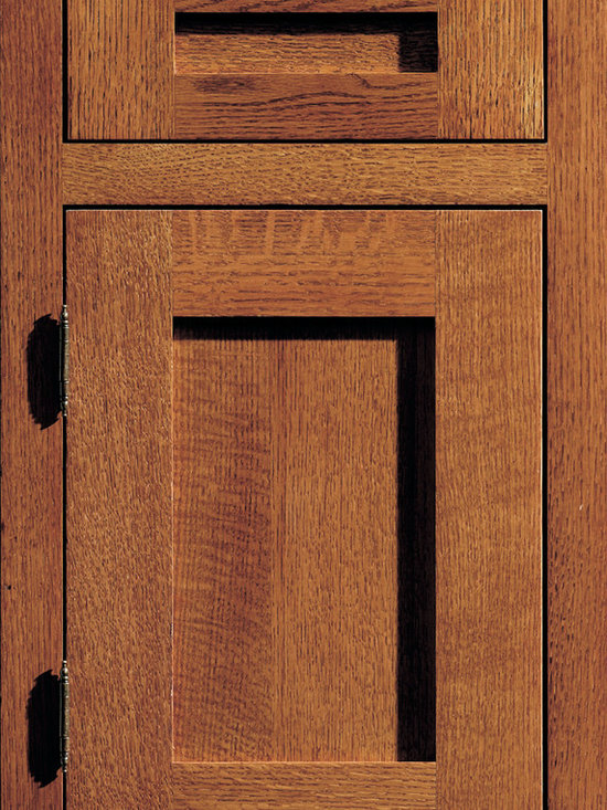 """Dura Supreme Cabinetry - Dura Supreme Cabinetry Craftsman Panel Cabinet Door Style - Dura Supreme Cabinetry """"Craftsman Panel"""" cabinet door style in Quarter-Sawn Red oak shown with Dura Supreme's """"Mission"""" finish. (With non-beaded frame)"""