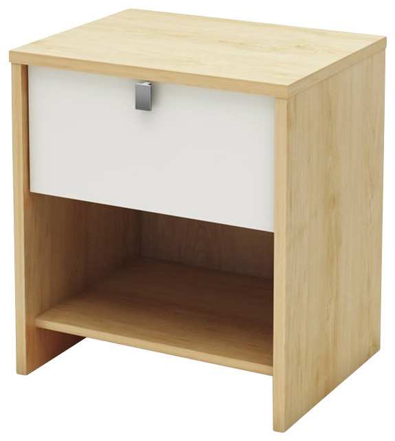 South Shore Cookie Nightstand in Champagne and White transitional-nightstands-and-bedside-tables