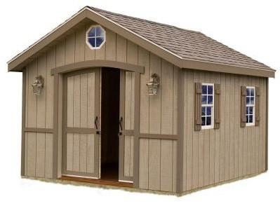 Storage Building. Cambridge 10 ft. x 16 ft. Wood Storage Shed Kit ...