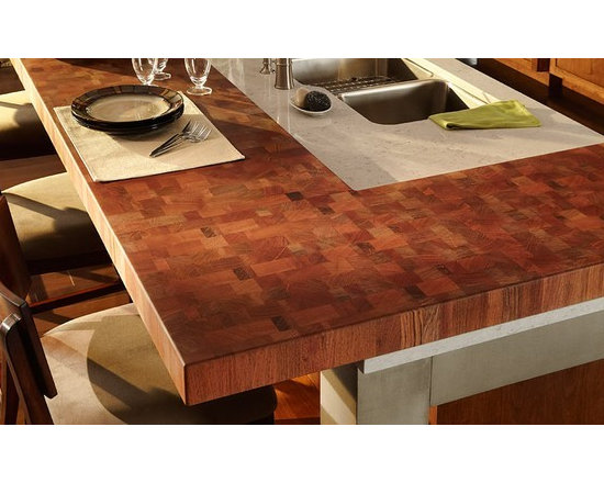 Brazilian Cherry Butcherblock Countertop and Bar.jpg - http://www.glumber.com/