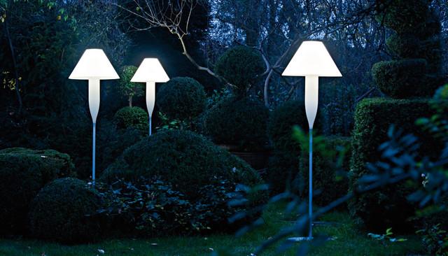 Bonheur Outdoor Floor Lamp by Serralunga modern-outdoor-lighting