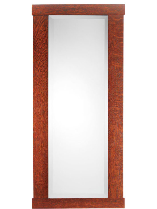 "Rejuvenation: Entry - An Arts & Crafts classic, our Oak-Framed Mirror is handmade using traditional mortise-and-tenon construction. A 1"" bevel surrounds the mirror – another subtle detail that attests to its fine craftsmanship."