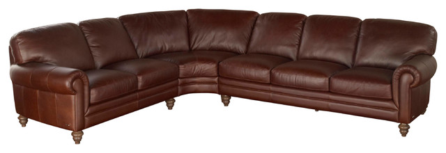 Natuzzi Editions Traditional Leather Sectional Sofa A855 traditional ...