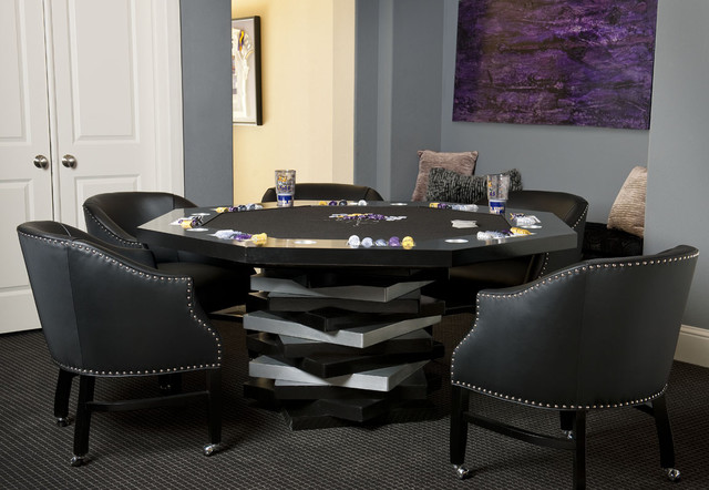Custom Poker Table Amp Poker Chips Contemporary