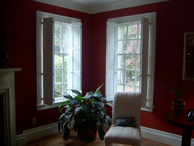 Raised Panel Shutters Window Treatments Richmond By The Louver Shop