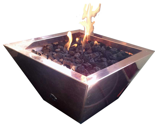Small Portable Fire Pits : Cfp portable copper fire pit contemporary pits