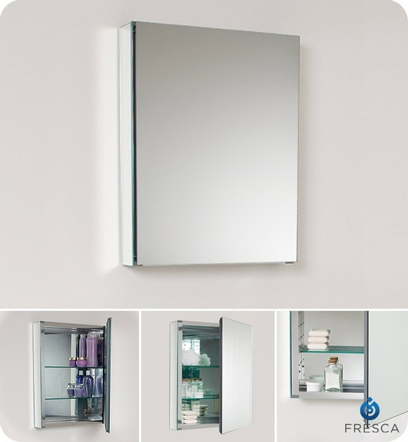 fresca 20 wide bathroom medicine cabinet w mirrors