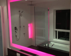 Coquitlam Chromotherapy Spa contemporary bathroom