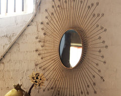 Starburst Mirror With Infinity Circles eclectic