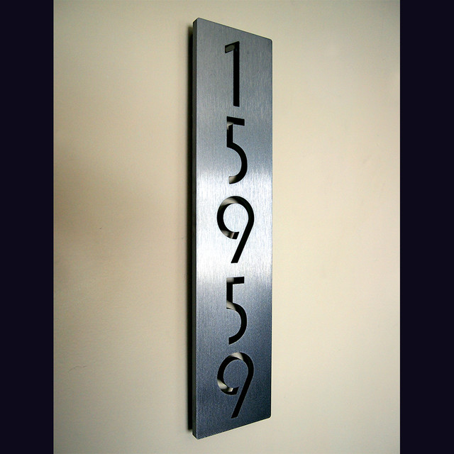 Address plaques modern house numbers los angeles for Modern house number plaques