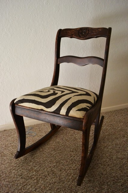 Zebra Rocking Chair traditional rocking chairs