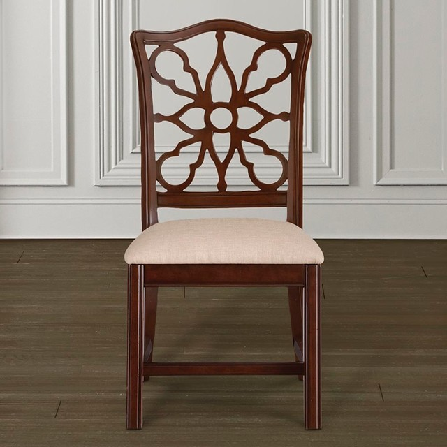 Bassett Furniture Atlanta: Moultrie Park Pierced Back Side Chair By Bassett Furniture