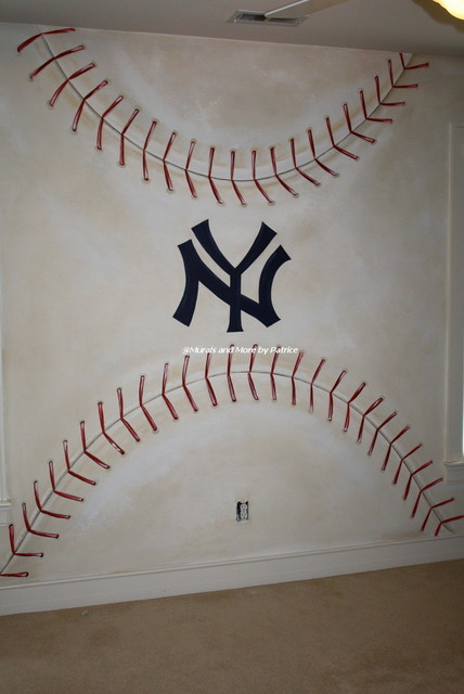 NY Yankees Big Boy Room Traditional Other Metro By