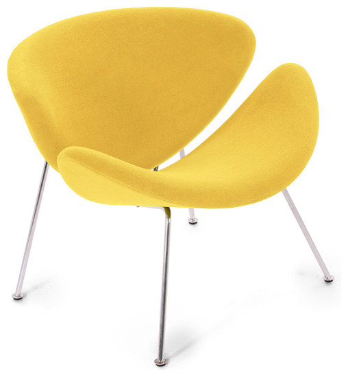Easy Chair Lysergic Yellow Fabric Midcentury