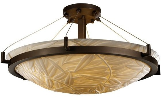 "Ring 24"" Transitional Semi Flush Mount Ceiling Light transitional-lighting"