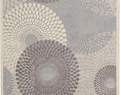 """Graphic Illusions GIL04 5'3"""" x 7'5"""" Grey Rug contemporary-rugs"""