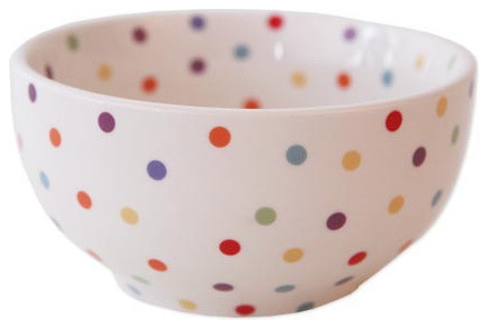Polka dot cereal bowl traditional dining bowls by for Fishs eddy dinnerware