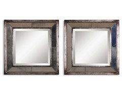www.essentialsinside.com: davion squares, set of 2 mirrors contemporary-mirrors