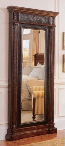 Seven Seas Floor Mirror with Jewelry Storage traditional-mirrors