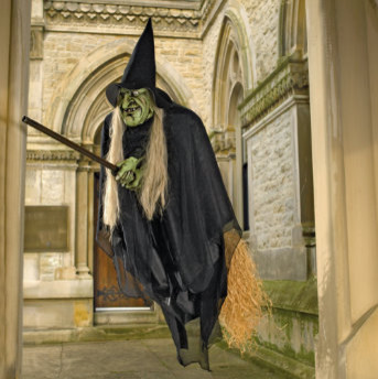 Flying Halloween Witch - Halloween Decorations and Decor traditional-holiday-decorations