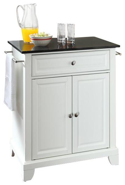 crosley furniture newport solid black granite top white