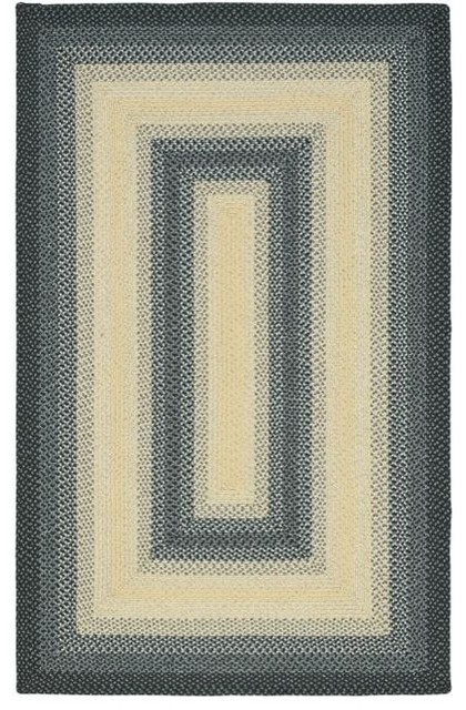 Hand-woven Reversible Multicolor Braided Rug (6' x 9') contemporary-rugs