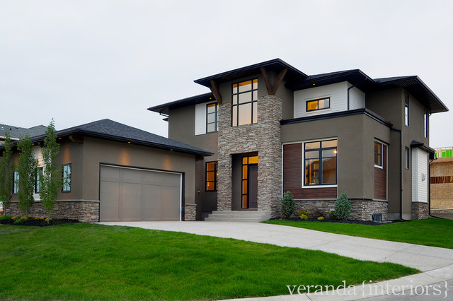 West Coast Contemporary Exterior - modern - exterior - calgary ...