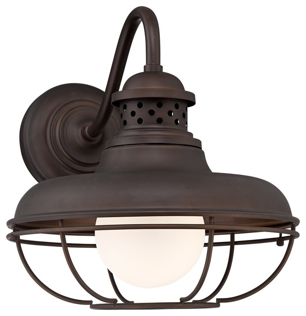 "Franklin Park Metal Cage 16 "" High Bronze Outdoor Wall Light Farmhouse"