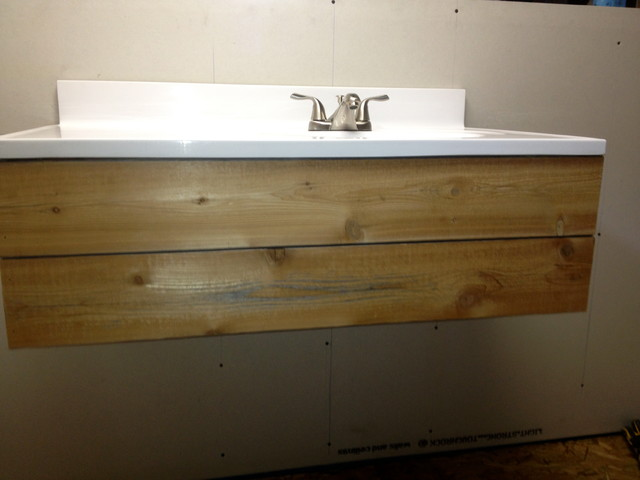 Floating Cedar Bathroom Vanity _ Custom modern-bathroom-vanities-and ...
