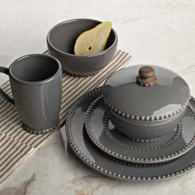 Livingstone Dinnerware Collection in Gray by The GG Collection - Contemporary - Dinnerware ...