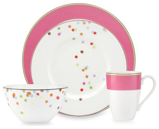 Kate Spade New York Market Street Pink Dinnerware Modern