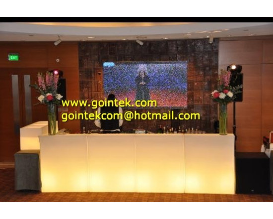 Illuminated LED Small Bar Counter With Light Color Change -