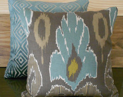 Ikat Decorative Pillow Cover by Pillow Flight contemporary pillows