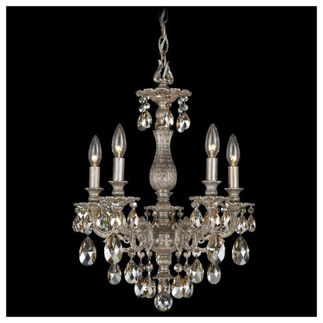Schonbek milano collection 16 wide crystal chandelier for Crystal bar milano