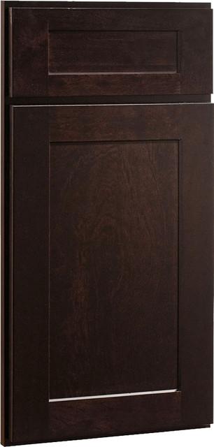 Dayton Birch Sable Dark Stained Wood Shaker Kitchen
